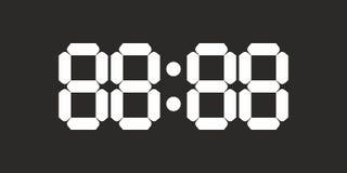 Retro stary cyfrowego zegarka zegaru pokaz liczy tło wektor Obraz Stock
