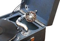 Retro stary gramofon Zdjęcia Stock