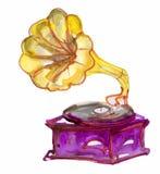 Retro stary gramofon Zdjęcie Royalty Free
