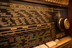 Retro stary radio Fotografia Royalty Free