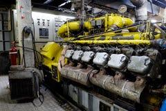 Retro statku kosmicznego silnika olej napędowy Obraz Royalty Free
