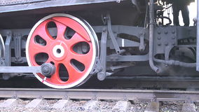 Retro Steam Engine Train stock footage