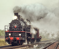 Retro steam freight train. Stock Photography