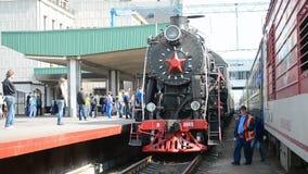 Retro steam locomotive in Kiev, Ukraine, Royalty Free Stock Photo