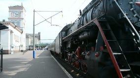 Retro steam locomotive, Kiev, Ukraine, Stock Photography
