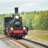 Retro steam locomotive. Royalty Free Stock Photos