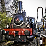 Retro steam locomotive 1. Retro steam locomotive railroad vehicle abandoned Stock Photography