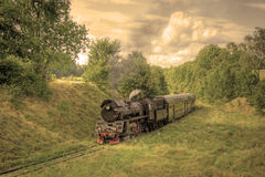 Retro steam train Stock Photography