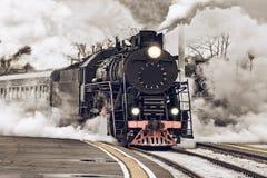 Retro steam train. Stock Photos