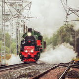 Retro steam train Royalty Free Stock Photos