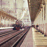 Retro steam train. Royalty Free Stock Photo