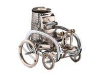 Retro steampunk vehicle. Royalty Free Stock Image