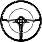 Retro Steering Wheel Stock Image