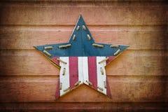 Retro stella di U.S.A. Fotografia Stock Libera da Diritti