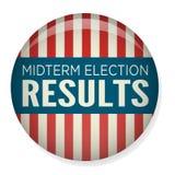 Retro Stem van Helft van het trimesterverkiezingen of Verkiezing Pin Button/Kenteken royalty-vrije illustratie