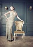 Retro stående för kvinna Royaltyfri Fotografi
