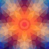 Retro sterachtergrond van geometrische vormen. Kleurrijke mozaïekbanner. Stock Fotografie