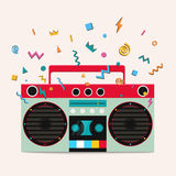 Retro stereo cassette player. Stock Image