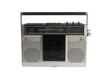 Retro stereo- kassett Arkivfoto