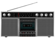 Retro Stereo Player. Illustration of Portable Retro Stereo Audio Cassette Player / Recorder royalty free illustration