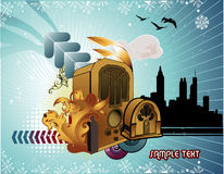 Retro stereo vector Stock Photography