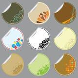 Retro stickers Stock Photography