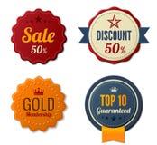 Retro Stickers Badges. Stock Photography