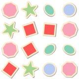 Retro stickers. Royalty Free Stock Photos