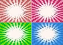 Retro Stijl - achtergrond, het vectorenwerk Stock Foto's