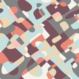 Retro stijl gekleurd patroonontwerp Stock Foto