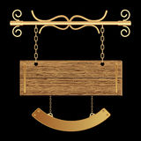 Retro stijl houten raad royalty-vrije illustratie