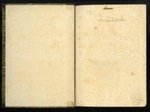 Retro stijl kader bloemenornament op de pagina's van oude boeken Royalty-vrije Stock Foto's