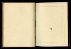 Retro stijl kader bloemenornament op de pagina's van oude boeken Royalty-vrije Stock Afbeeldingen