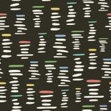 Retro stijl naadloos patroon met gestileerde stapels van kiezelstenen Stock Foto