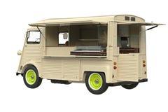 Retro stijl van de voedselvrachtwagen Stock Foto's