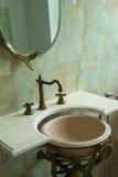 Retro stijl van het badkamersdetail Stock Foto