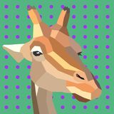 Retro stijl vectorgiraf royalty-vrije illustratie