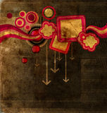 Retro stijlachtergrond stock illustratie