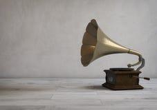 Retro stijlgrammofoon in een moderne ruimte 3D Illustratie Stock Foto