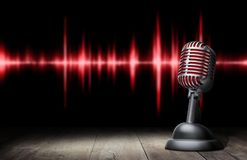 Retro stijlmicrofoon stock afbeelding
