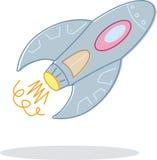 Retro stijlstuk speelgoed raketillustratie royalty-vrije illustratie