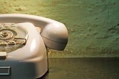 Retro stijltelefoon stock afbeelding