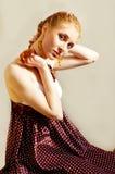 Retro stijlvrouw Royalty-vrije Stock Foto