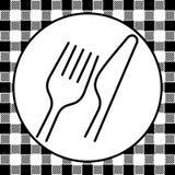 Retro stil för gaffel och för kniv Arkivbilder