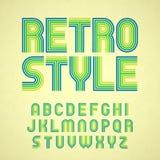 retro stil för alfabet Arkivbild