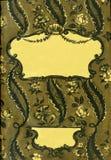 retro stil inrama den blom- prydnaden på sidorna av gamla böcker Royaltyfria Foton