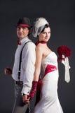 retro stilbröllop för härliga par Arkivbilder