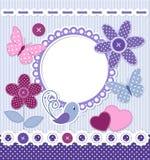 Retro stildesign för scrapbooking Royaltyfria Bilder