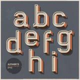 Retro stile di colore di alfabeto. Immagini Stock Libere da Diritti