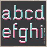 Retro stile di colore di alfabeto. Fotografie Stock